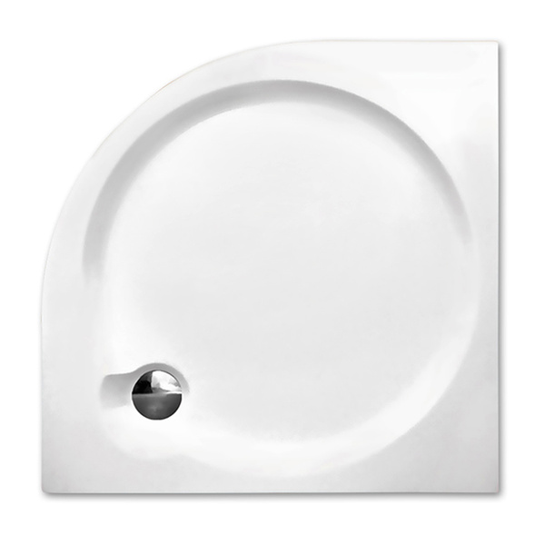 Samonosná sprchová vanička TAHITI-P Čtvrtkruhová 800x800 mm 8000041