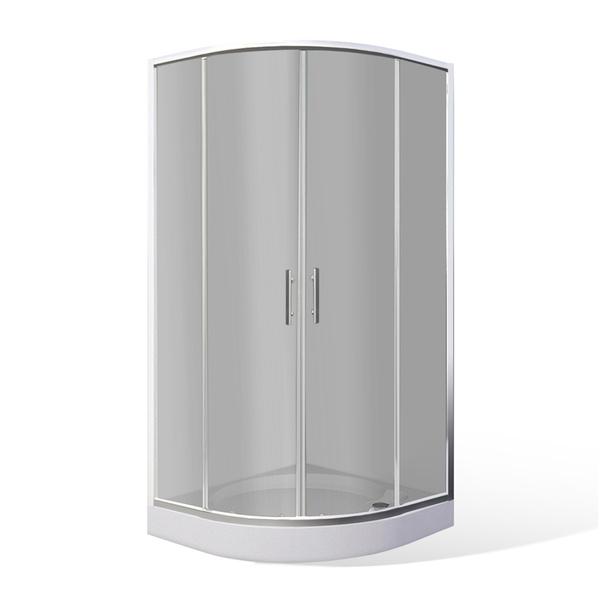 Čtvrtkruhový sprchový kout TAMI set s vaničkou 800x800 mm a sprchová vanička, celková výška 2025 4000622