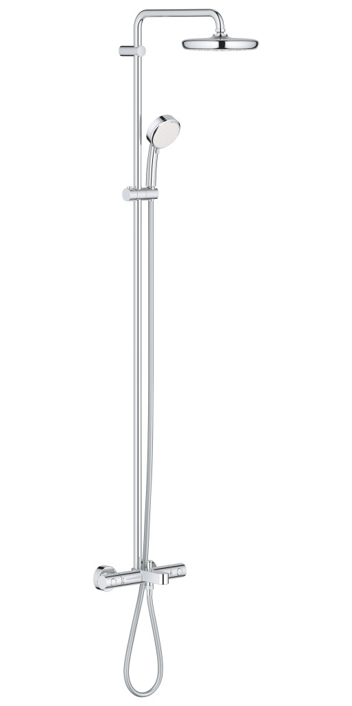 Grohe Tempesta Cosmopolitan Sprchový systém 210 s vanovým termostatem na zeď, chrom 26223001