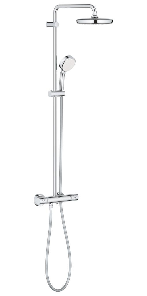 Grohe Tempesta Cosmopolitan Sprchový systém 210 s termostatem na zeď, chrom 27922001