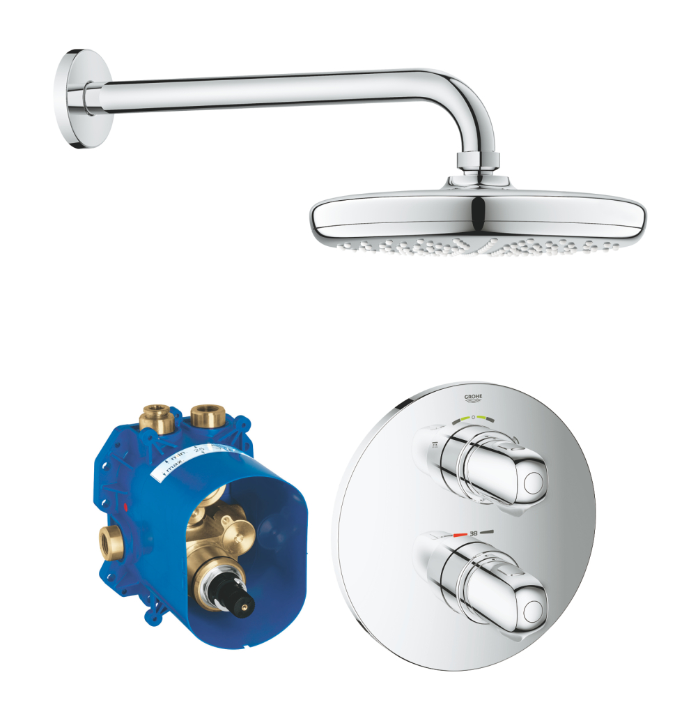 Grohe Grohtherm 1000 Sprchový systém 210 s termostatem pod omítku, chrom 34582001