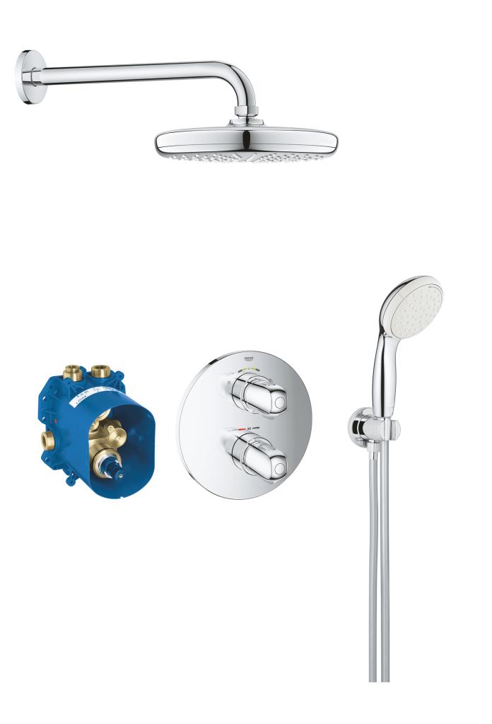 Grohe Grohtherm 1000 Sprchový systém 210 s termostatem pod omítku, s ruční sprchou, chrom 34614001
