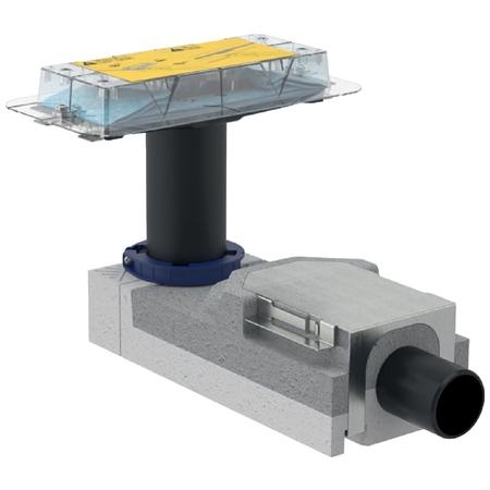 Geberit CleanLine Souprava pro hrubou montáž sprchového kanálku, pro podlahy 90-200 mm, odpad 50 mm 154.150.00.1