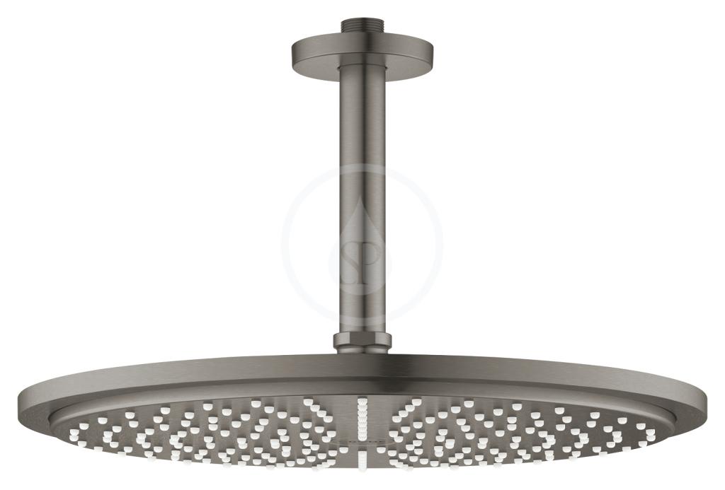 Grohe Rainshower Cosmopolitan Hlavová sprcha 310, sprchové rameno 142 mm, 1 proud, kartáčovaný tmavý grafit 26067AL0
