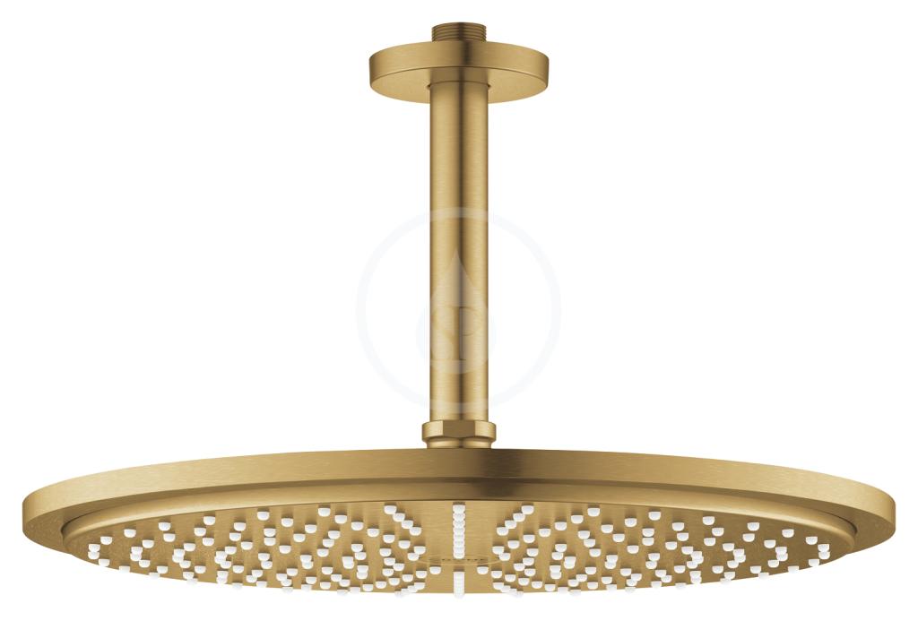 Grohe Rainshower Cosmopolitan Hlavová sprcha 310, sprchové rameno 142 mm, 1 proud, kartáčovaný Cool Sunrise 26067GN0