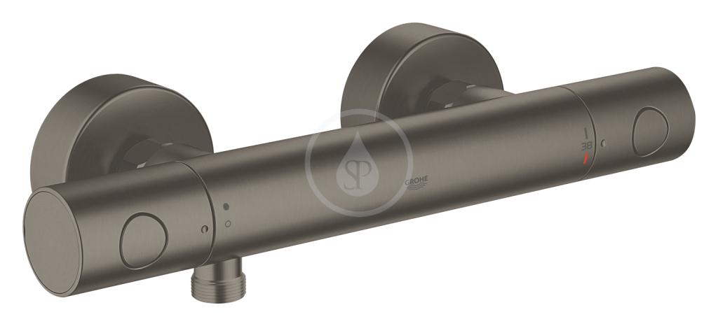 Grohe Grohtherm 1000 Cosmopolitan Termostatická sprchová baterie, kartáčovaný tmavý grafit 34065AL2