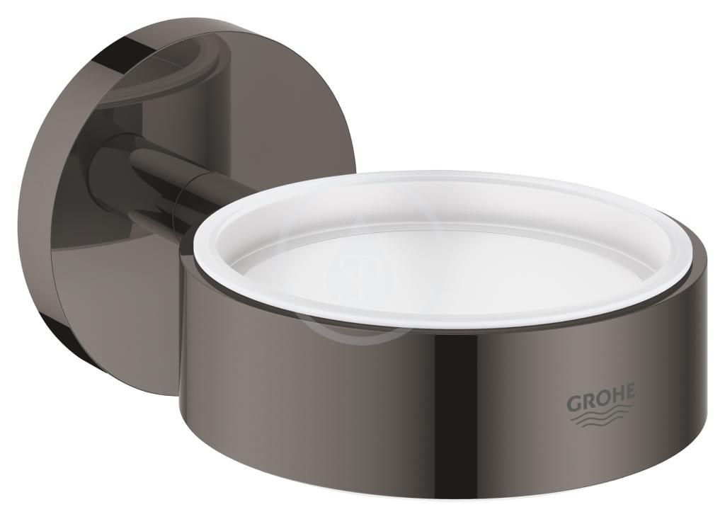 Grohe Essentials Držák skleničky/mýdelníku, tmavý grafit 40369A01