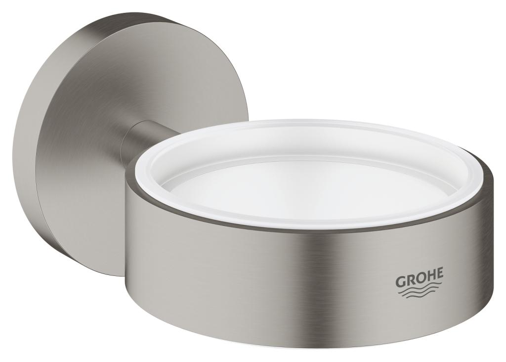 Grohe Essentials Držák skleničky/mýdelníku, supersteel 40369DC1