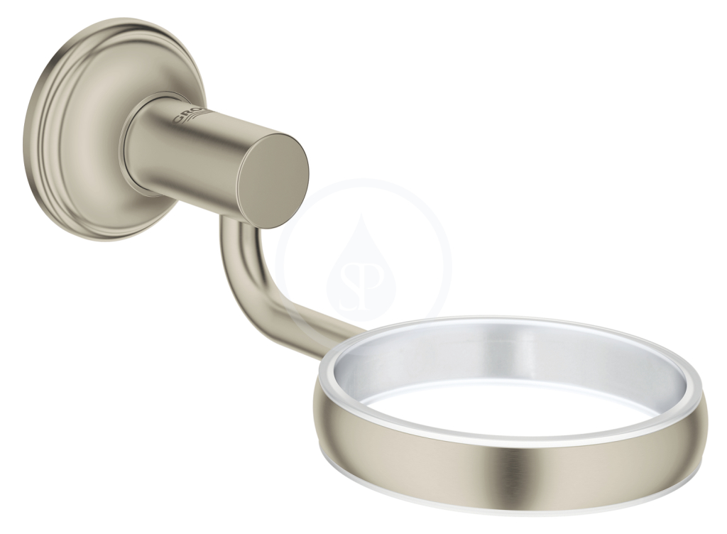 Grohe Essentials Authentic Držák skleničky/mýdelníku, kartáčovaný nikl 40652EN1