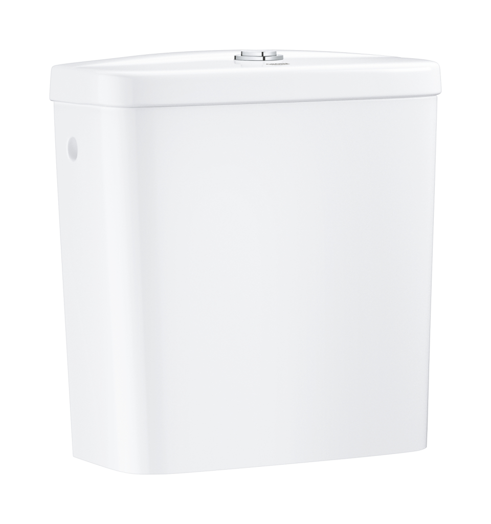 Grohe Bau Ceramic Splachovací nádrž k WC kombi, 343 x 153 mm, alpská bílá 39437000