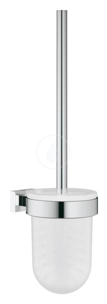 Grohe Essentials Cube WC kartáč s držákem, chrom/sklo 40513000