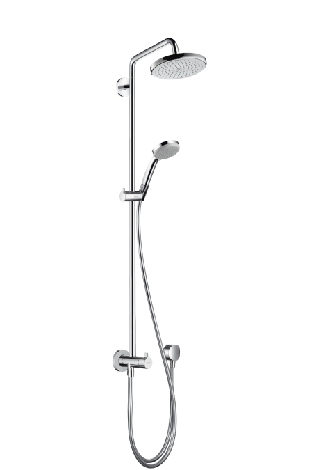 Hansgrohe Croma 220 Showerpipe Reno 220 mm, otočné sprchové rameno 400 mm, chrom 27224000
