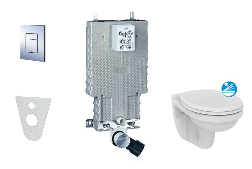 Grohe Uniset Sada pro závěsné WC + klozet a sedátko Ideal Standard Quarzo 38643SET-KD