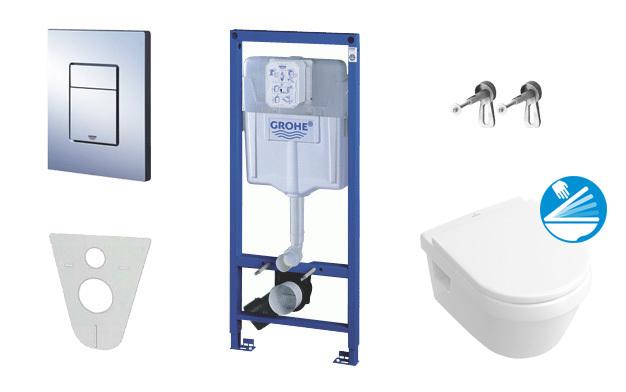 Grohe Rapid SL pro závěsné WC, kompletní sada 38528SET-KB