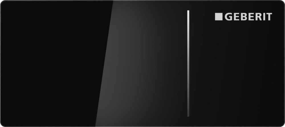 Geberit Ovládací tlačítko OMEGA70, pro nádržky OMEGA, sklo černé 115.084.SJ.1