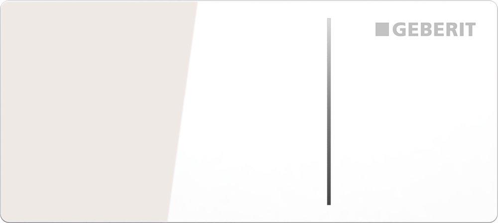 Geberit Ovládací tlačítko OMEGA70, pro nádržky OMEGA, sklo bílé 115.084.SI.1