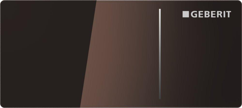 Geberit Ovládací tlačítko OMEGA70, pro nádržky OMEGA, sklo hnědé 115.084.SQ.1