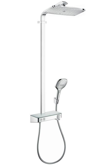 Hansgrohe Raindance Select E Showerpipe 360 ST 1jet EcoSmart, termostatická sprchová baterie, sprchové rameno 380 mm, chrom 27287000