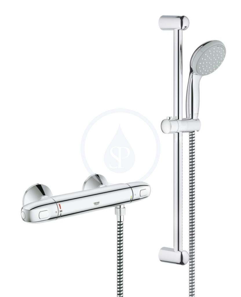 Grohe Grohtherm 1000 Termostatická sprchová baterie, sprchová souprava 600 mm, chrom 34151003