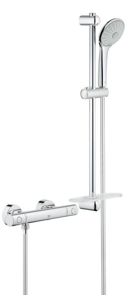 Grohe Grohtherm 1000 Cosmopolitan Termostatická sprchová baterie M, sprchová souprava 600 mm, chrom 34286002