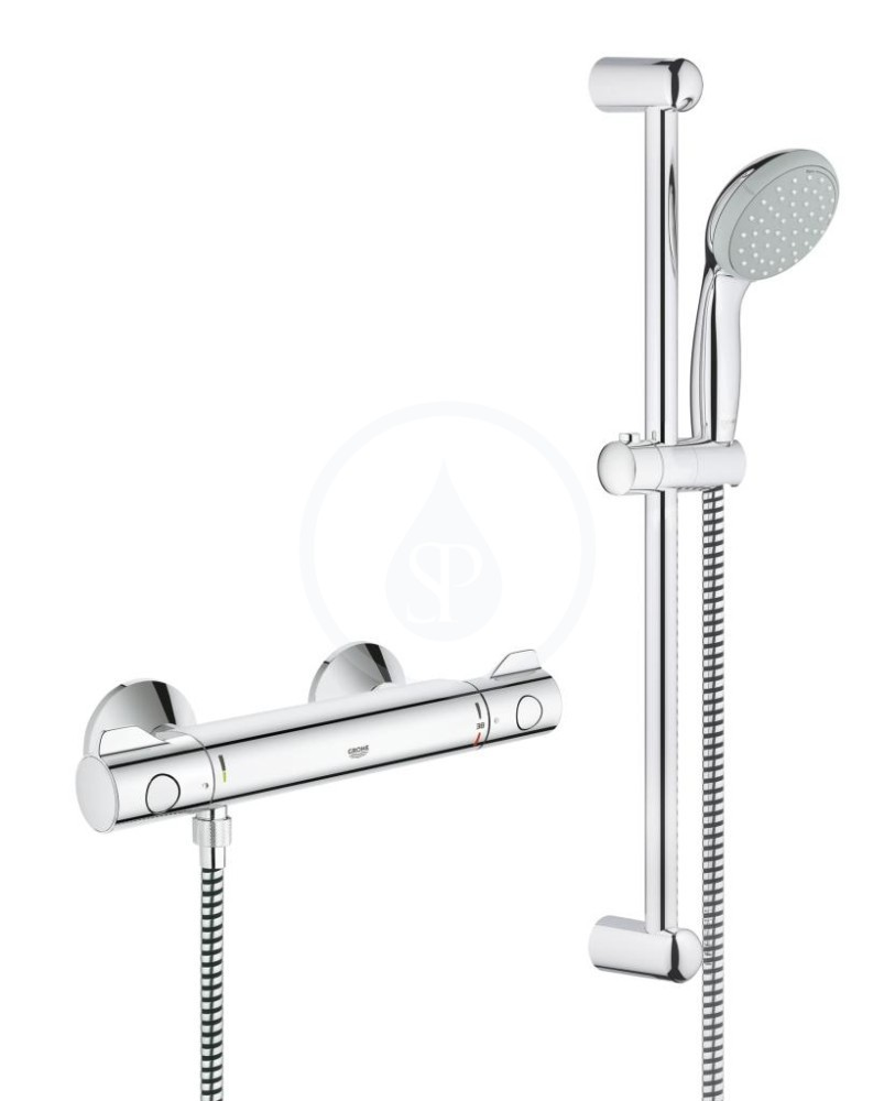 Grohe Grohtherm 800 Termostatická sprchová baterie, sprchová souprava 600 mm, chrom 34565000