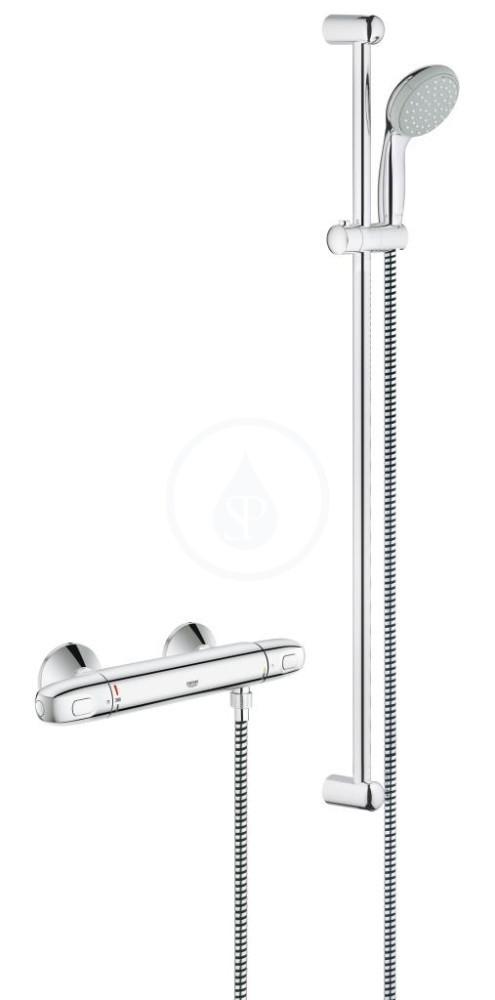Grohe Grohtherm 1000 Termostatická sprchová baterie, sprchová souprava 900 mm, chrom 34256003
