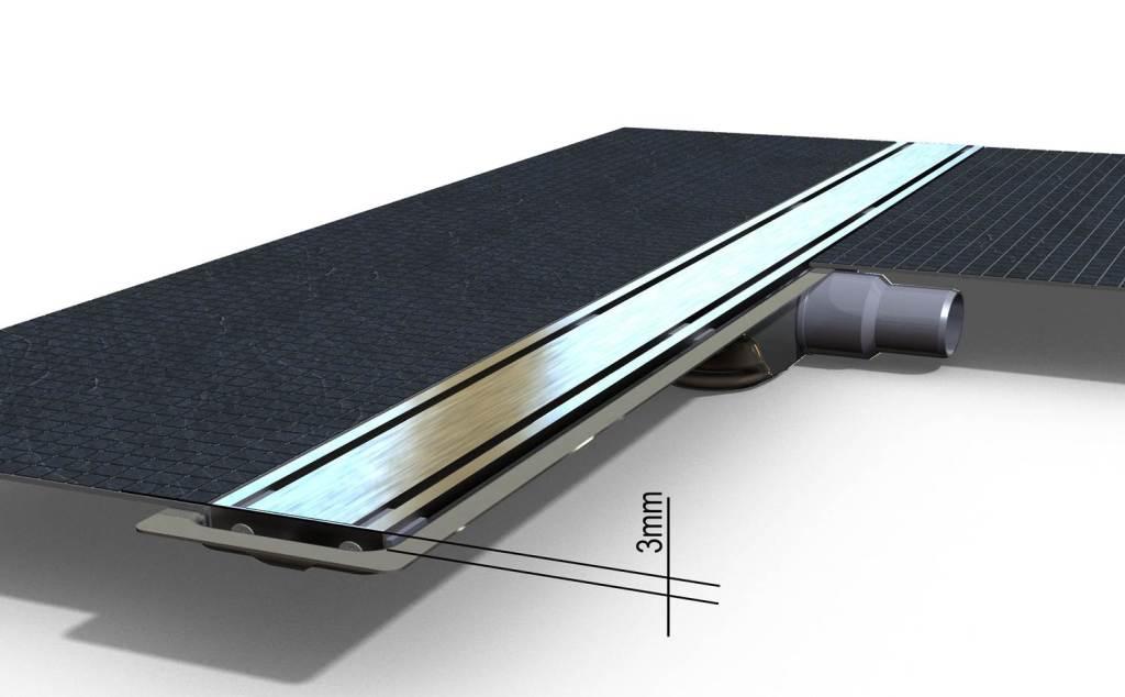 I-Drain Nerezový rošt pro sprchový žlab Level-3 broušený, délka 700 mm IDRO0700Z