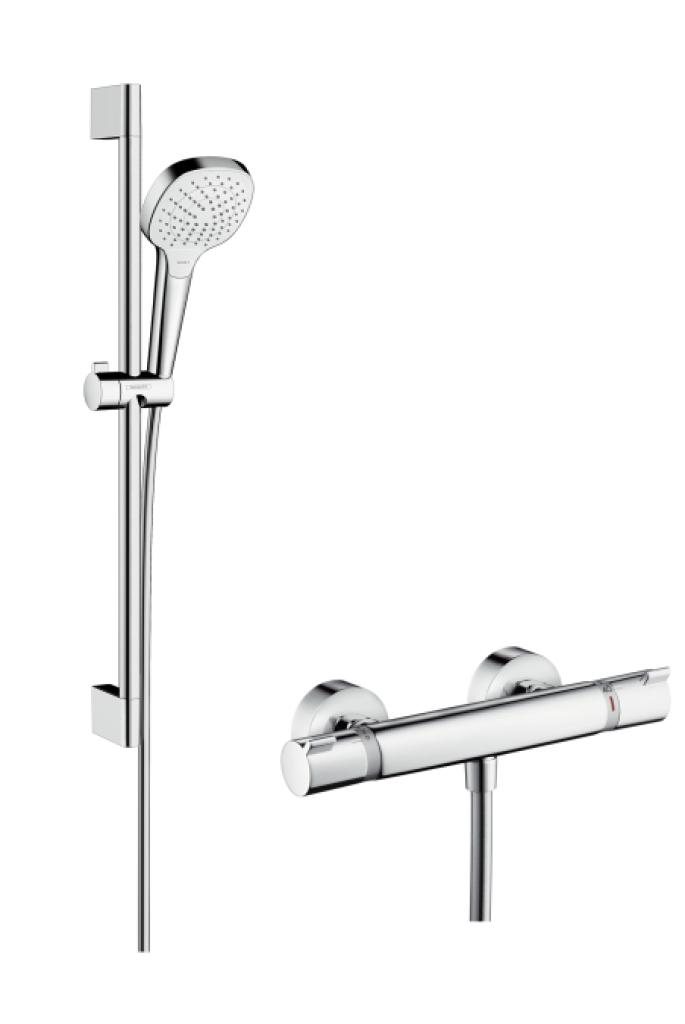 Hansgrohe Ecostat Comfort Croma Select E, Kombinace 0,65 m, bílá/chrom 27081400