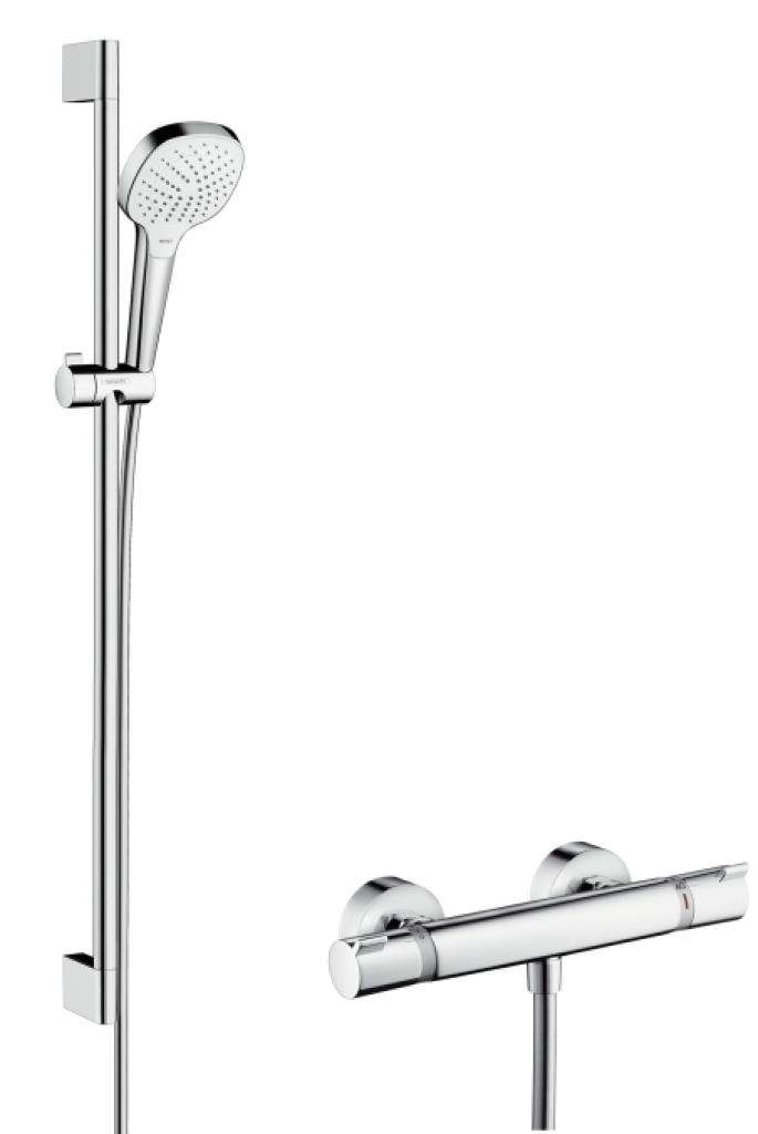 Hansgrohe Ecostat Comfort Croma Select E, Kombinace 0,90 m, bílá/chrom 27082400