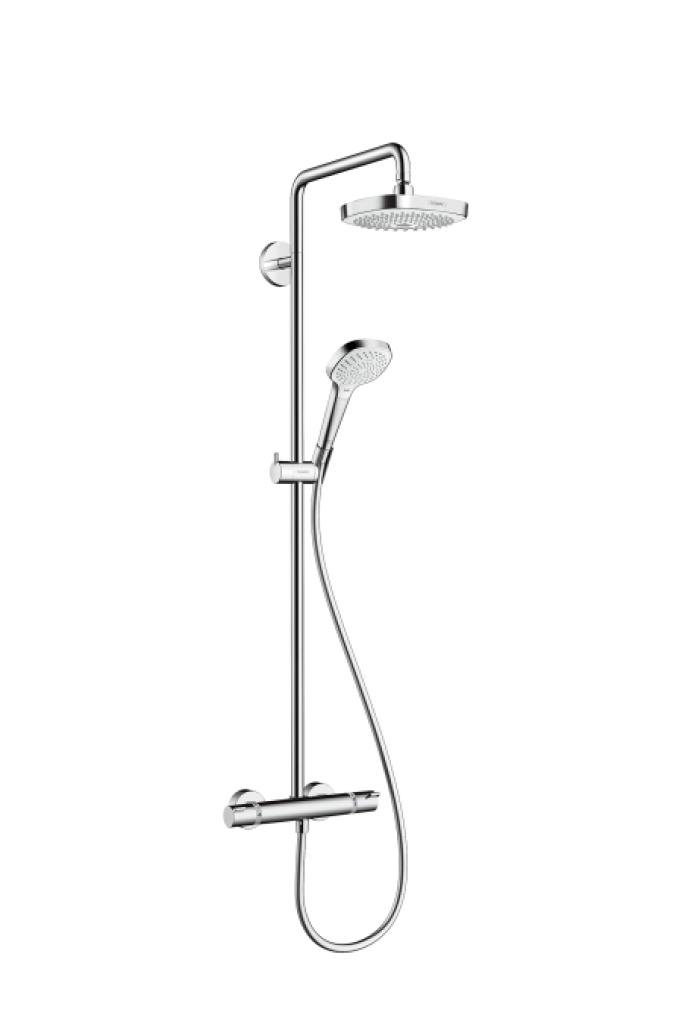 Hansgrohe Croma Select E Sprchová souprava 180 2jet Showerpipe EcoSmart 9 l/min, bílá/chrom 27257400