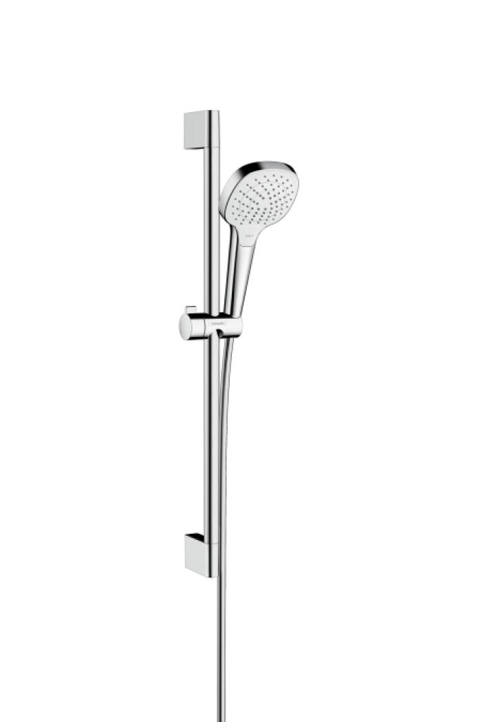Hansgrohe Croma Select E Sprchová souprava Vario EcoSmart 9l/min 0,65m, bílá/chrom 26583400