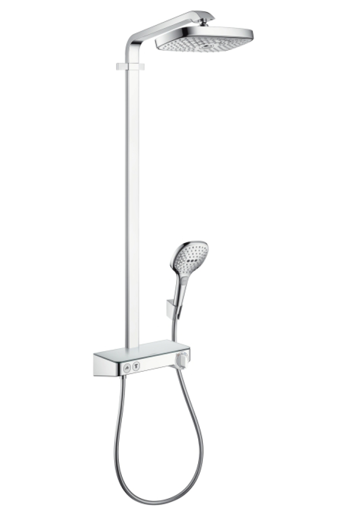 Hansgrohe Raindance Select E Showerpipe 300 2jet EcoSmart, termostatická sprchová baterie, sprchové rameno 380 mm, chrom 27283000