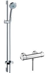 Hansgrohe Ecostat 1001 SL Combi 0,90 m s ruční sprchou Croma 100 Multi 3jet, chrom 27085000
