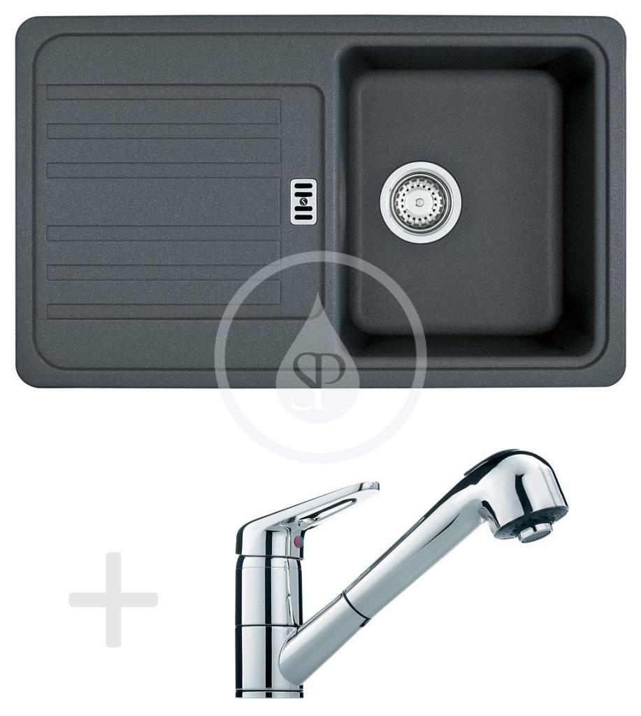 Franke Sety Kuchyňský set G18, granitový dřez EFG 614-78, grafit + baterie FC 9547.031, chrom 114.0120.401