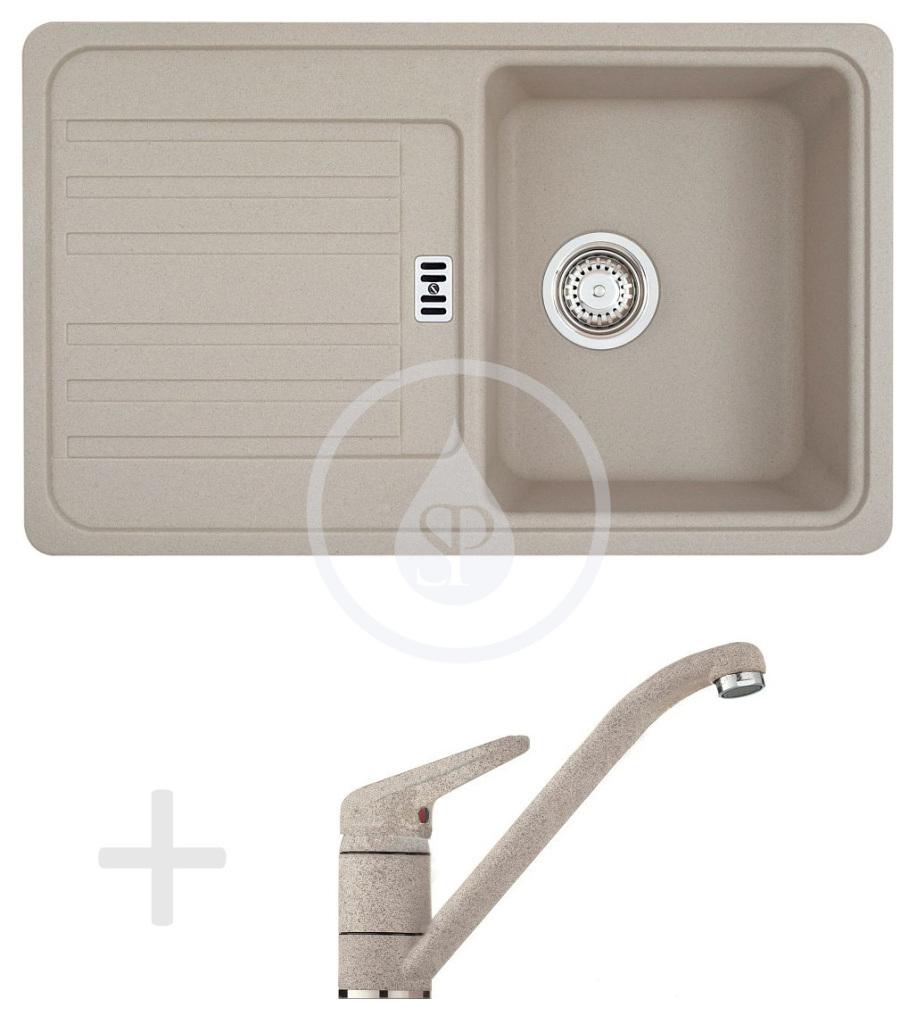 Franke Sety Kuchyňský set G19, granitový dřez EFG 614-78, sahara + baterie FG 9541.082, sahara 114.0120.396