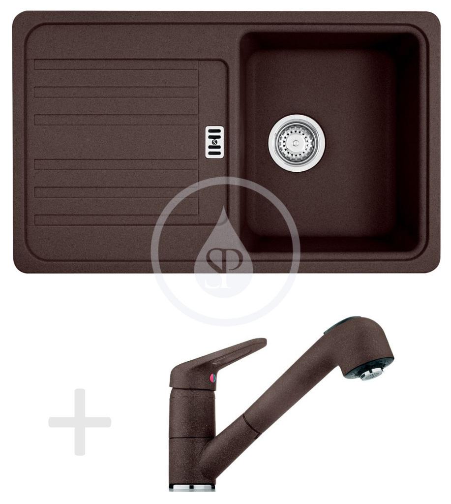 Franke Sety Kuchyňský set G20, granitový dřez EFG 614-78, tmavě hnědá + baterie FC 9547.070, tmavě hnědá 114.0252.888