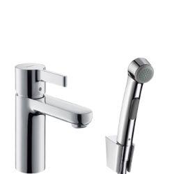 Hansgrohe Metris S Sada ruční bidetové sprchy 1jet/umyvadlové pákové baterie 1,60 m, chrom 31160000