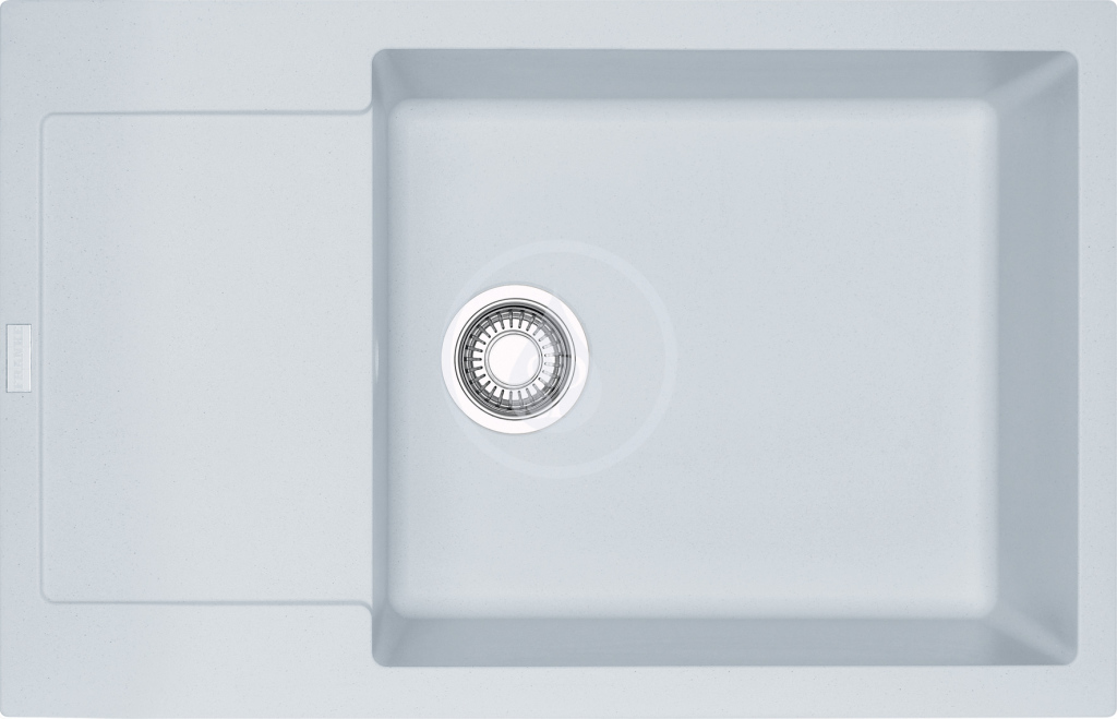 Franke Maris Fragranitový dřez MRG 611-78 BB, 780x500 mm, bílá-led 114.0363.186
