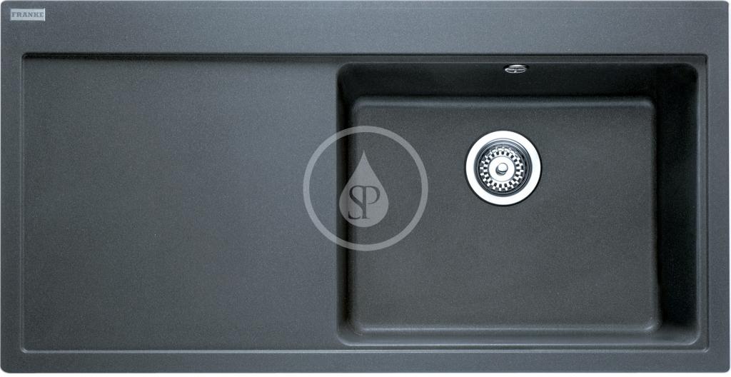 Franke Mythos Granitový dřez MTG 611/7, 1000x515 mm, pravý, grafit 114.0150.008