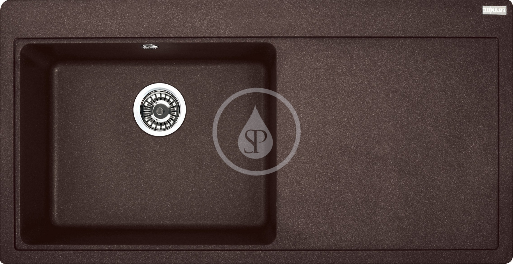 Franke Mythos Granitový dřez, MTG 611/2, 1000x515 mm, levý, tmavě hnědá 114.0250.544