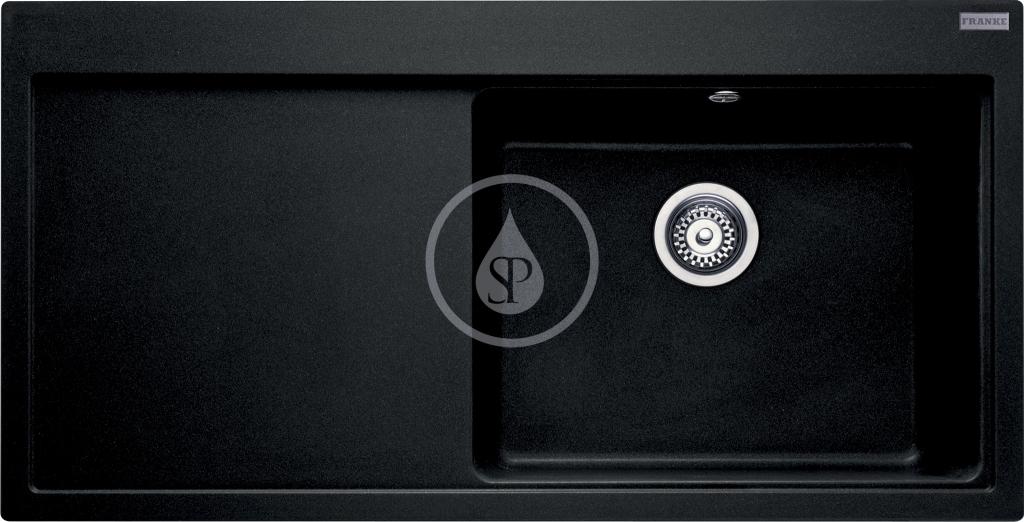 Franke Mythos Granitový dřez MTG 611/7, 1000x515 mm, pravý, onyx 114.0250.542