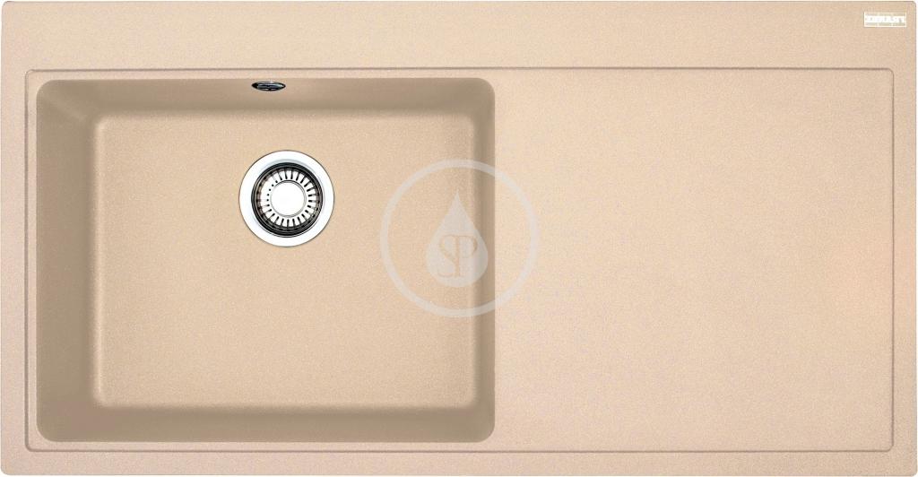 Franke Mythos Granitový dřez MTG 611/2, 1000x515 mm, levý, pískový melír 114.0150.004