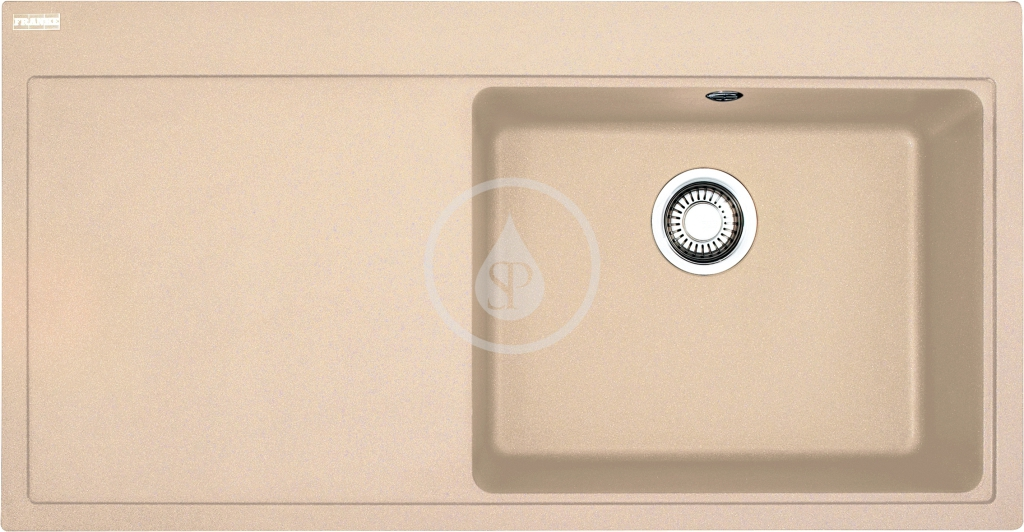 Franke Mythos Granitový dřez MTG 611/7, 1000x515 mm, pravý, pískový melír 114.0150.011