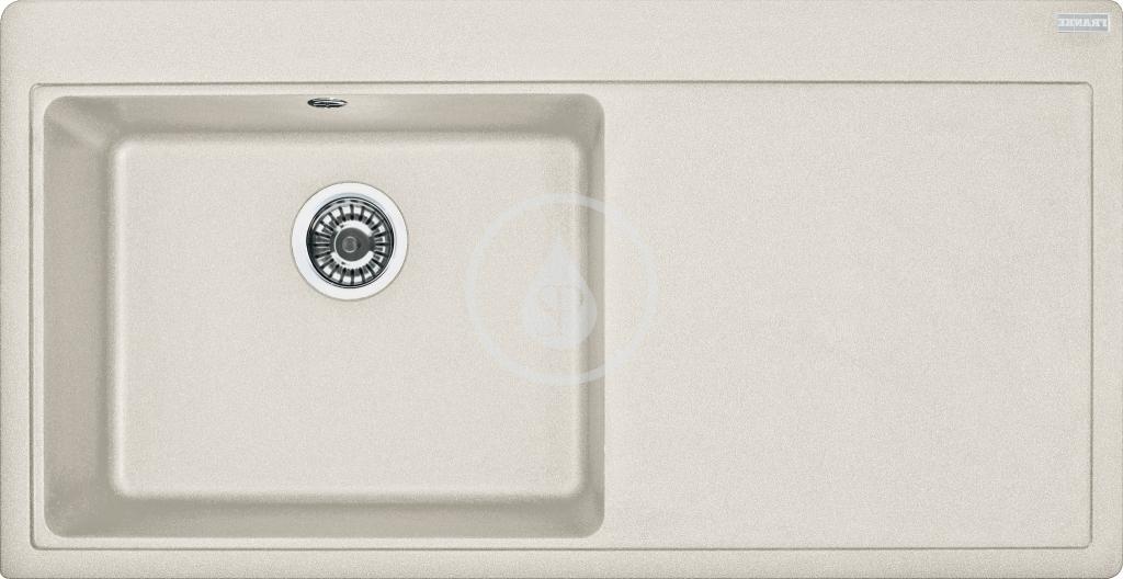 Franke Mythos Granitový dřez, MTG 611/2, 1000x515 mm, levý, vanilka 114.0286.537