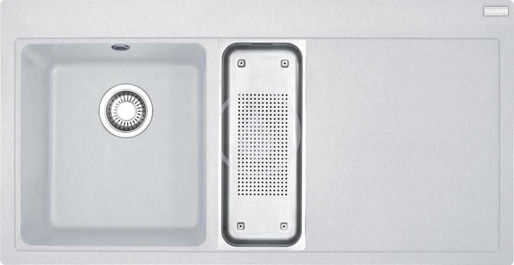 Franke Mythos Fragranitový dřez MTG 651-100/2, 1000x515 mm, levý, bílá-led 114.0150.018