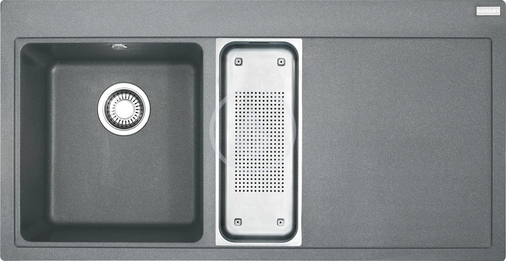 Franke Mythos Fragranitový dřez MTG 651-100/2, 1000x515 mm, levý, šedý kámen 114.0150.022