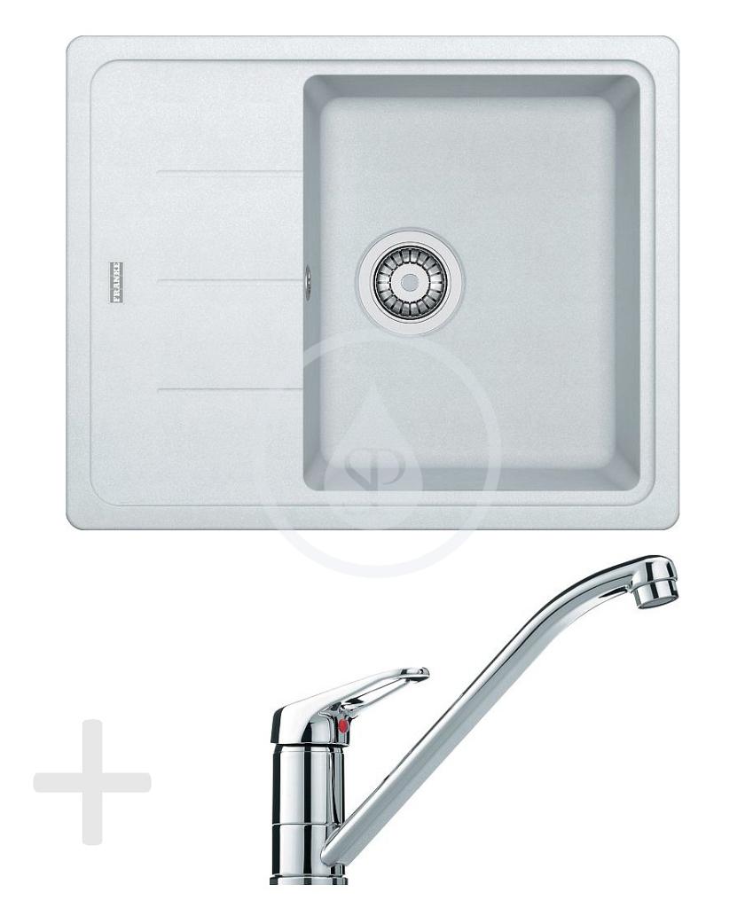 Franke Sety Kuchyňský set G65, granitový dřez BFG 611-62, bílá-led + baterie FG 1839, chrom 114.0365.133