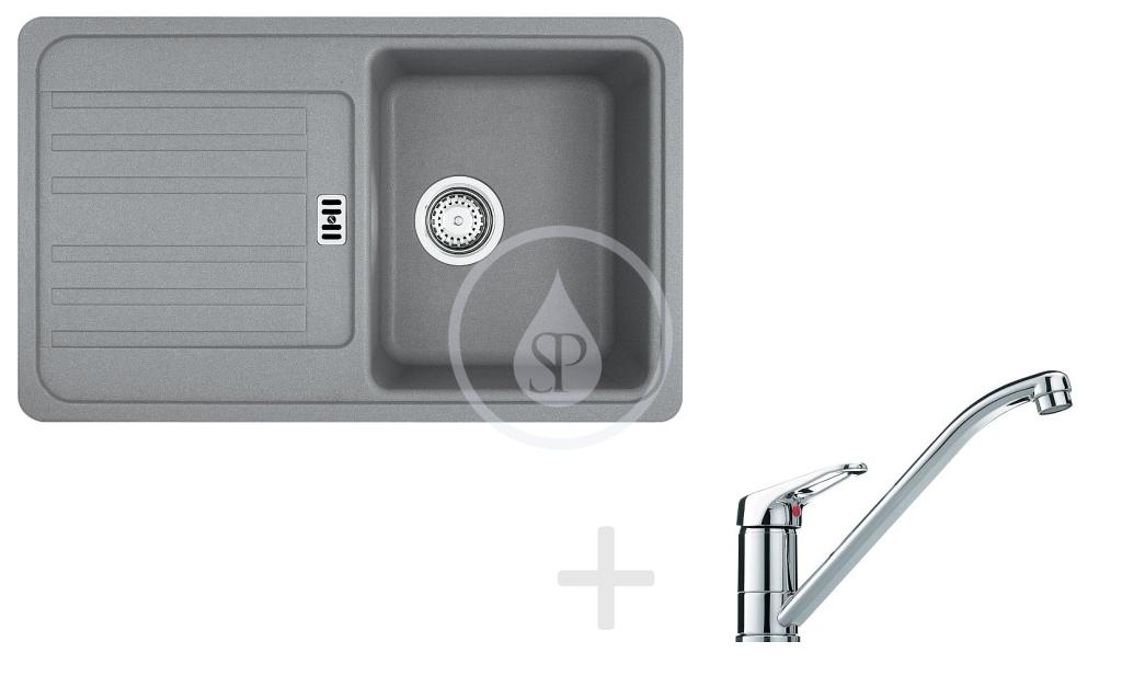 Franke Sety Kuchyňský set G83, granitový dřez EFG 614-78, šedý kámen + baterie FG 1839, chrom 114.0365.792