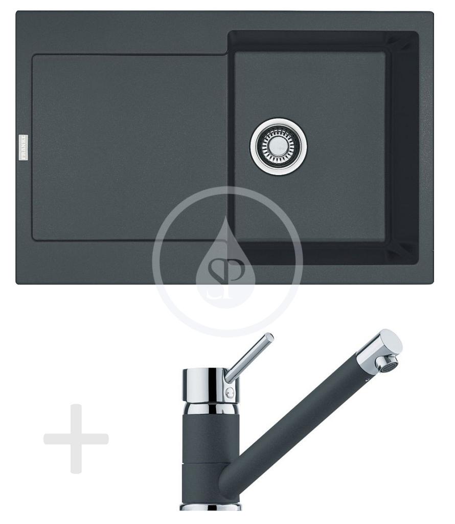 Franke Sety Kuchyňský set G71, granitový dřez MRG 611, grafit + baterie FG 7477, grafit 114.0365.260