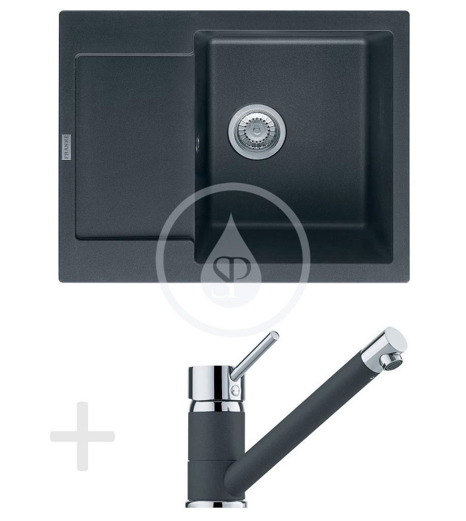 Franke Sety Kuchyňský set G69, granitový dřez MRG 611-62, grafit + baterie FG 7477, grafit 114.0365.192